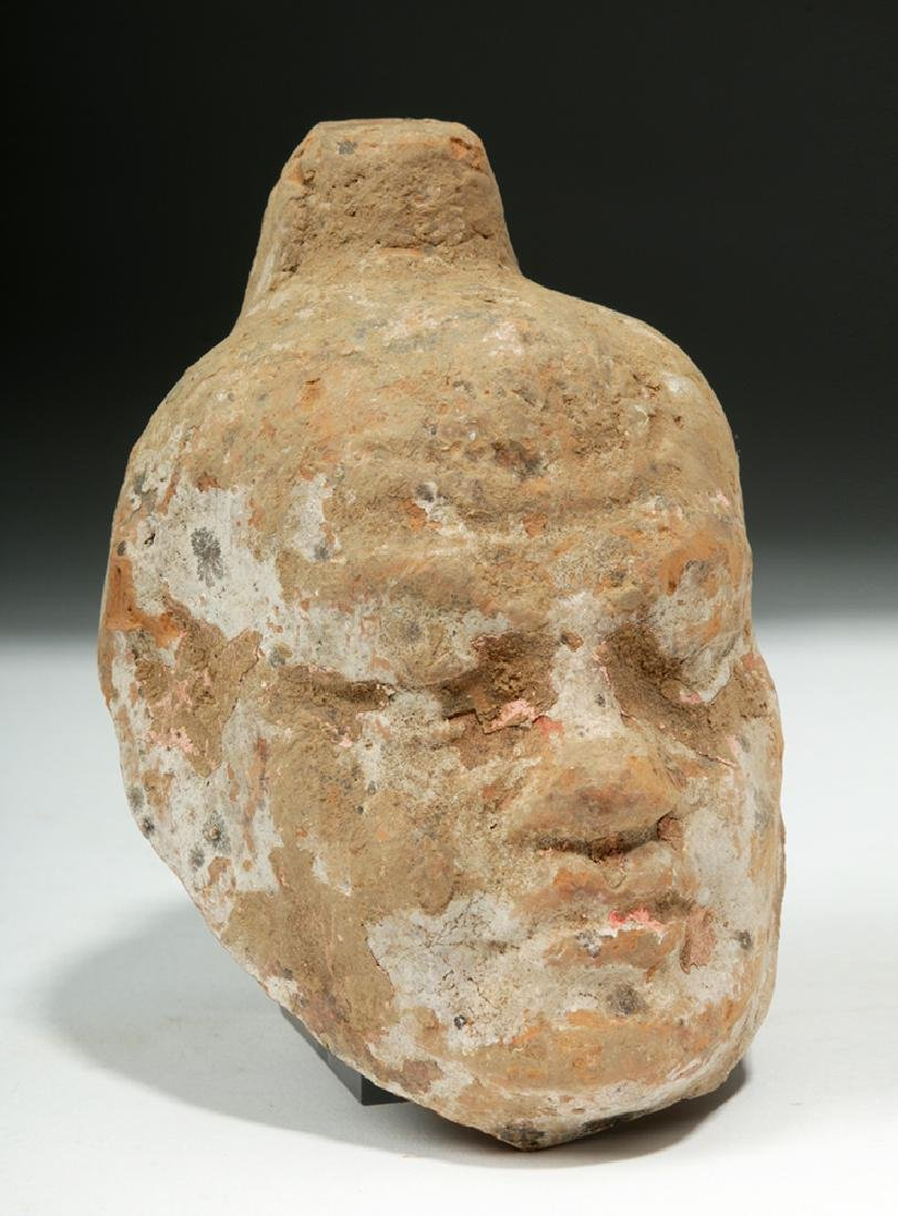 China Tang Dynasty Zhen Mushou Pottery Head - 2