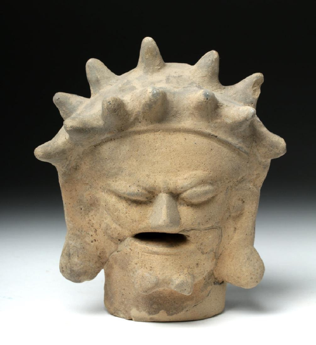Rare Bahia Pottery Head of an Old Man