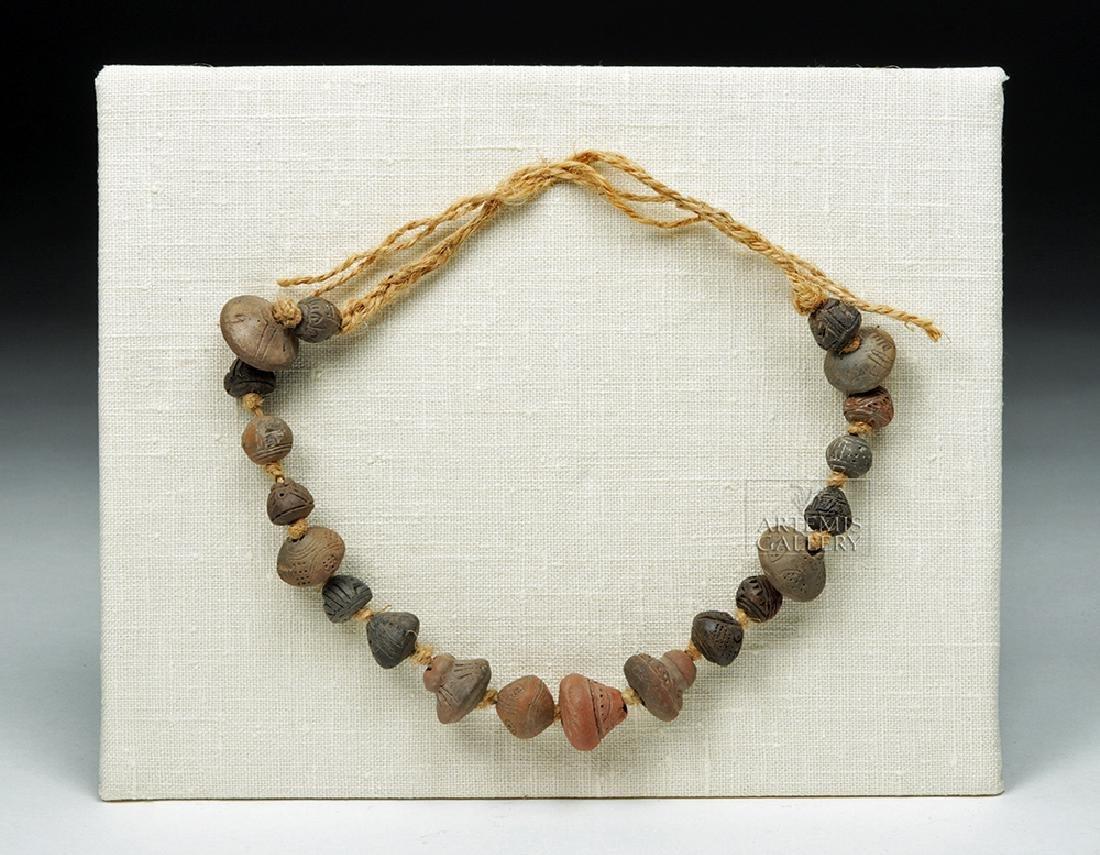 Ancient Ecuadoran Spindle Whorl Beaded Necklace - 2