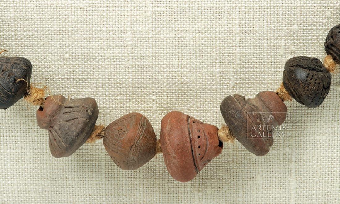 Ancient Ecuadoran Spindle Whorl Beaded Necklace - 3