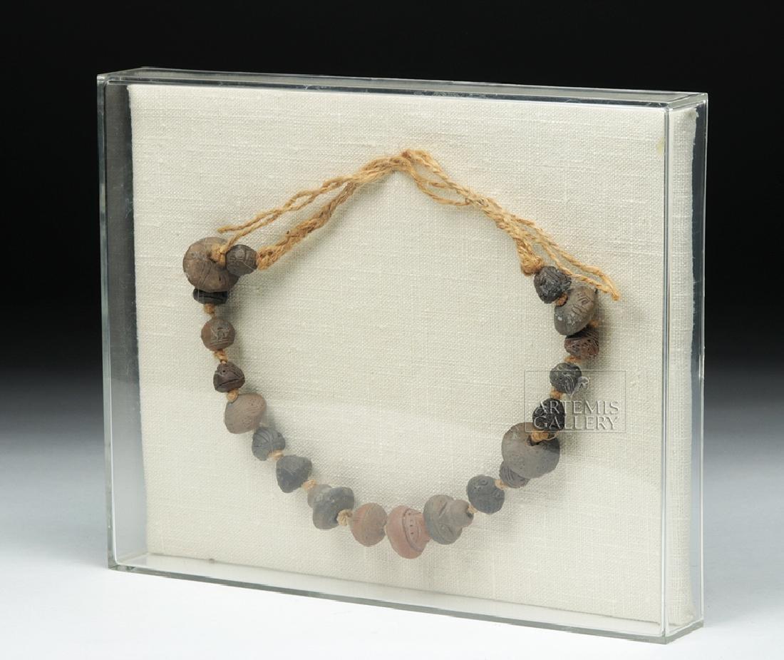 Ancient Ecuadoran Spindle Whorl Beaded Necklace - 4