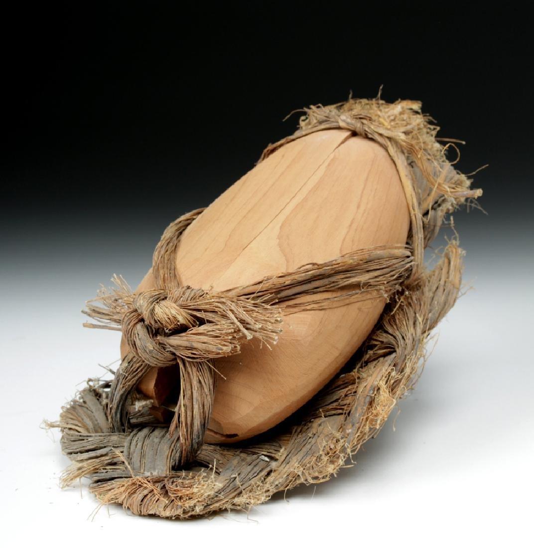 Rare Anasazi Hand-Woven Sandal with Wood Insert