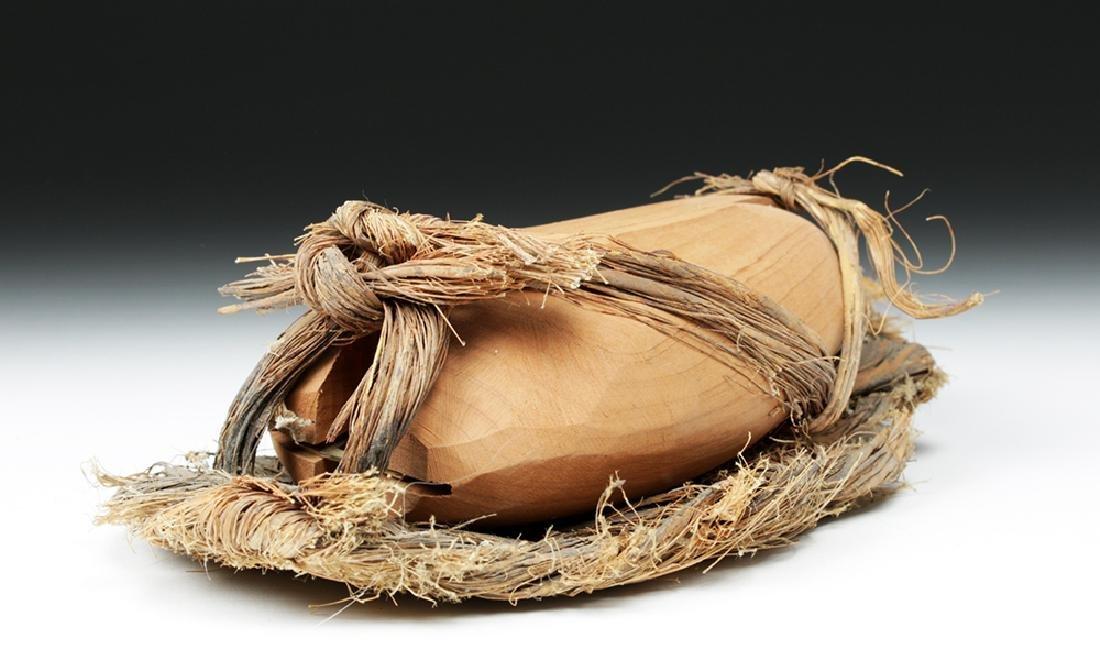 Rare Anasazi Hand-Woven Sandal with Wood Insert - 3