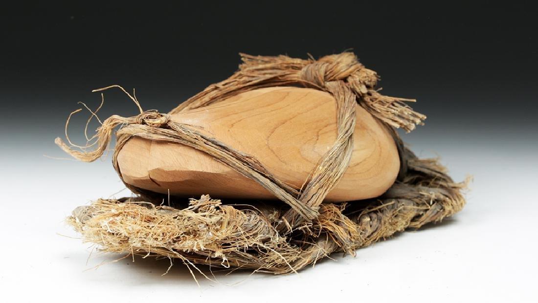 Rare Anasazi Hand-Woven Sandal with Wood Insert - 5
