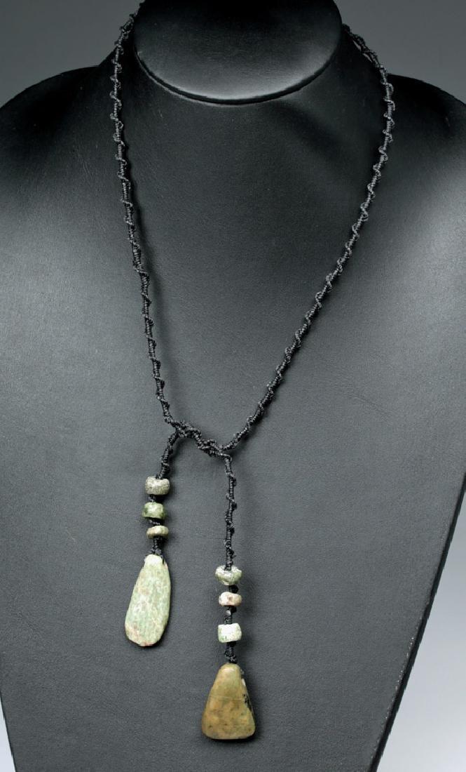 Mayan Jade Twist-Drop Necklace