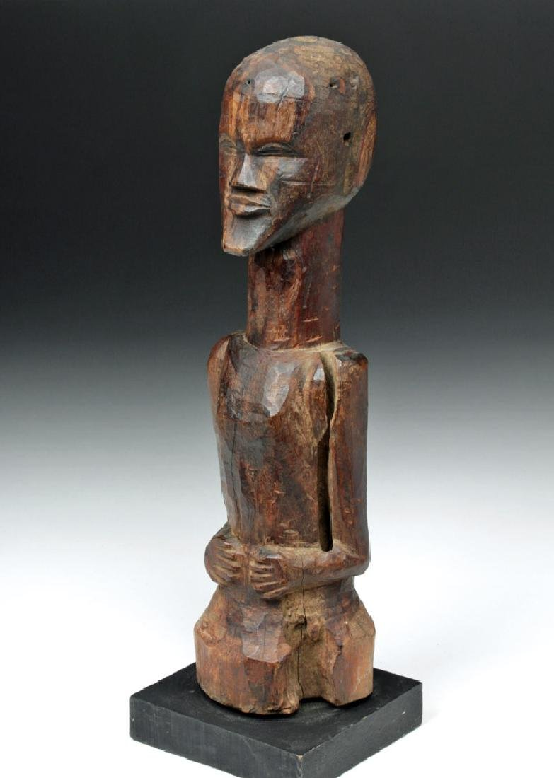 Early 20th C. Songye Carved Wooden Power Figure