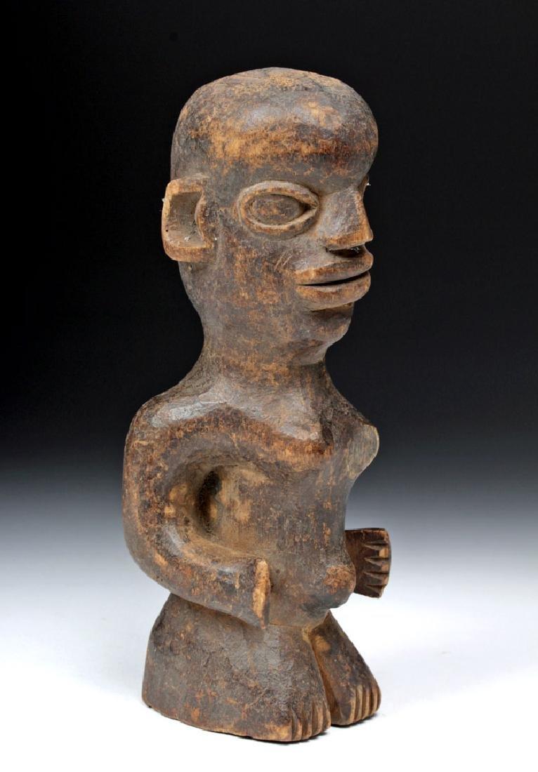 Early 20th C. African Yoruba Wooden Female Figure