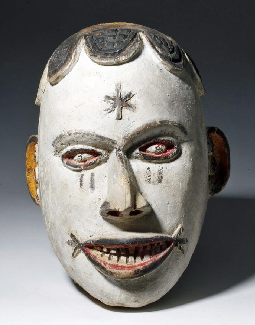 Early 20th C. African Igbo Wooden Maiden Spirit Mask