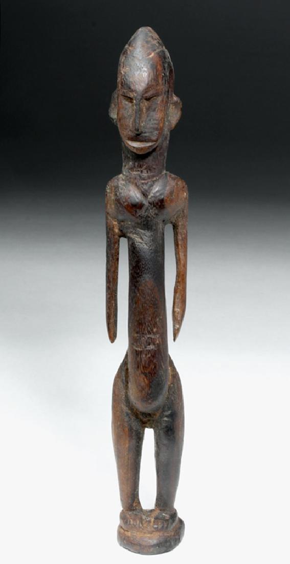 African Malinke Carved Wooden Female Figure