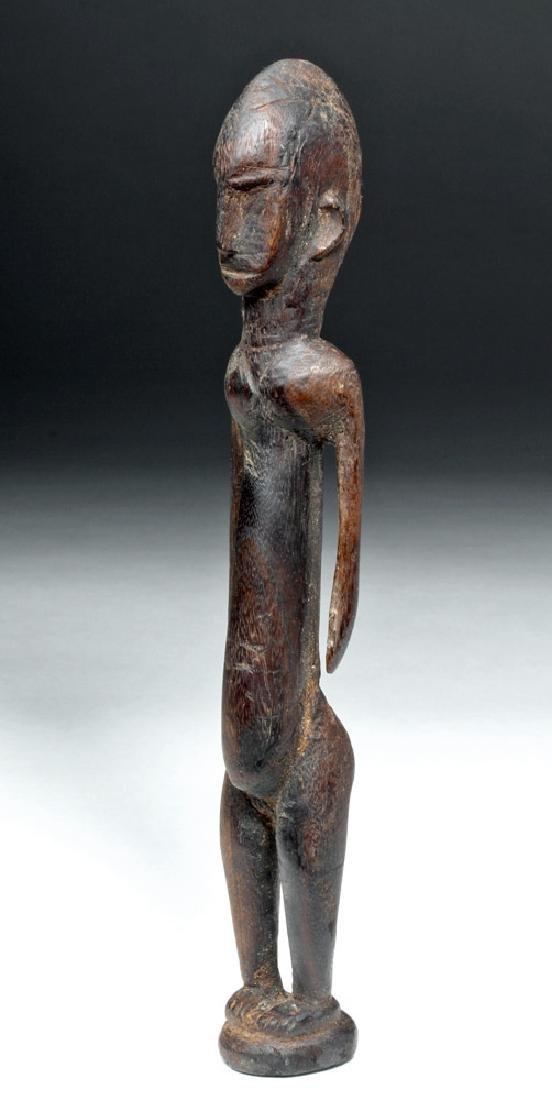 African Malinke Carved Wooden Female Figure - 2