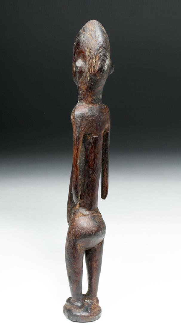 African Malinke Carved Wooden Female Figure - 3