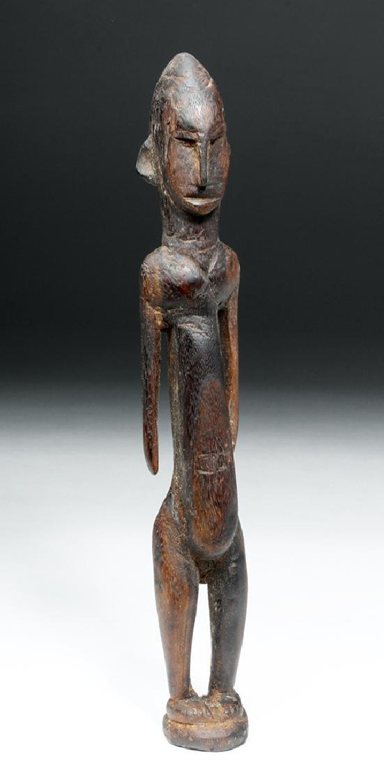 African Malinke Carved Wooden Female Figure - 5