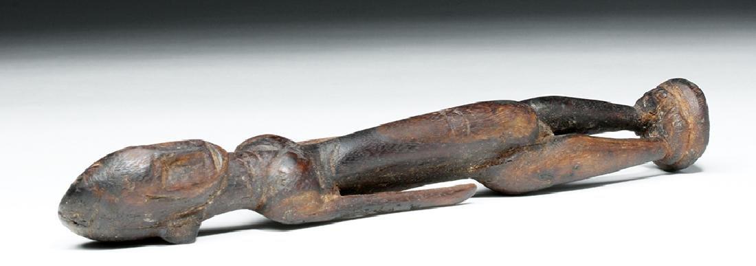 African Malinke Carved Wooden Female Figure - 6