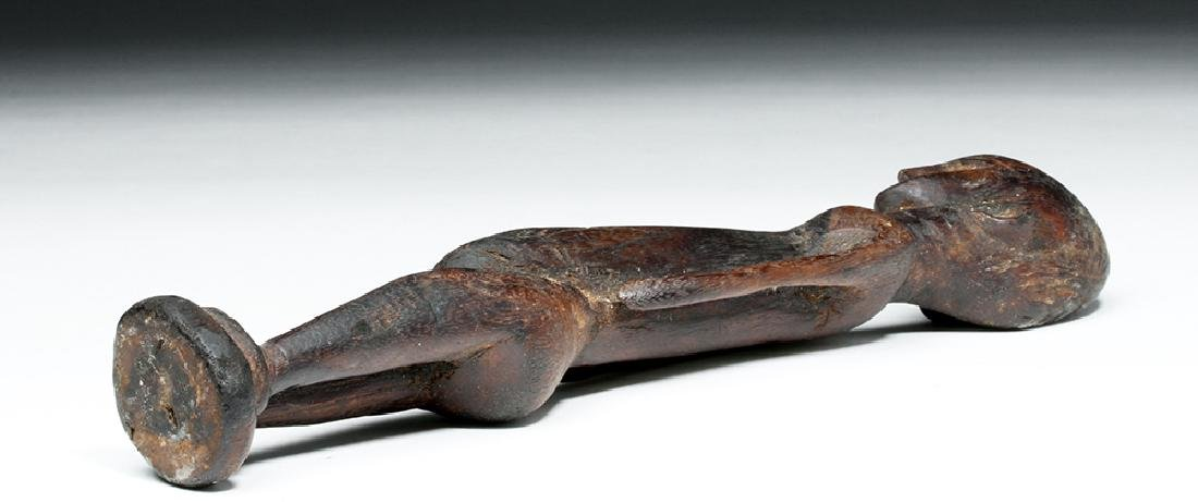 African Malinke Carved Wooden Female Figure - 7