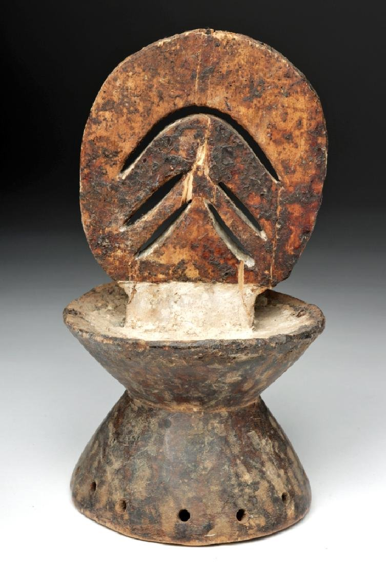 Early 20th C. African Igbo Wooden Headdress Piece