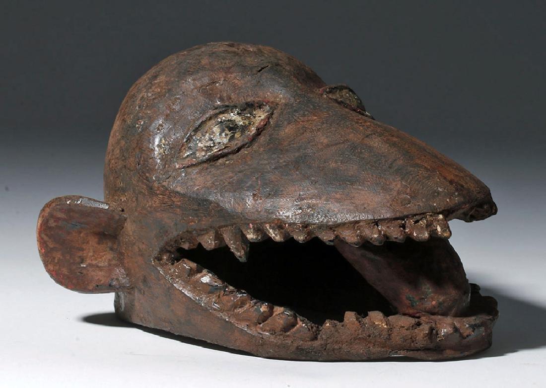 20th C. African Makonde Wooden Anthropomorphic Mask