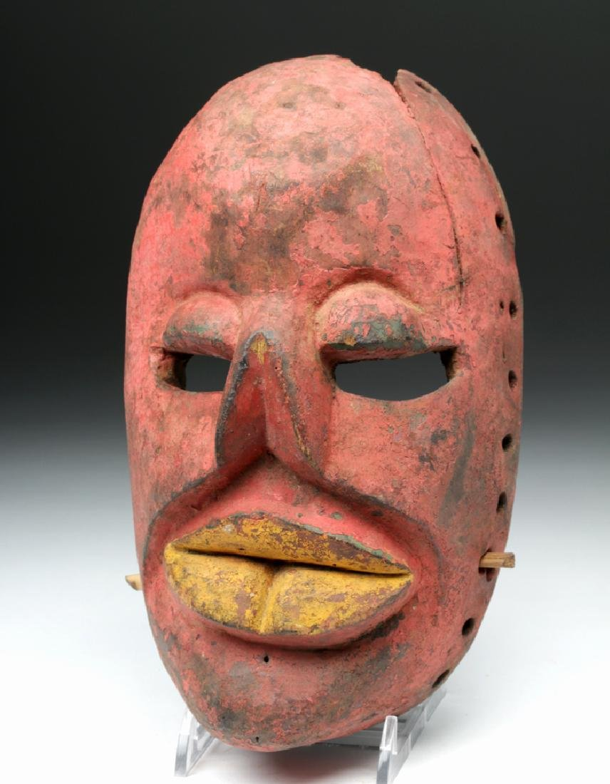 20th C. African Wooden Mask - Illness Mask