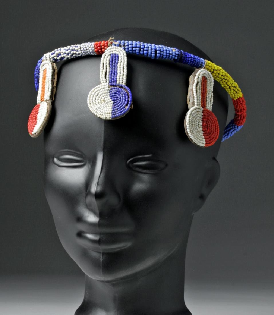 Mid 20th C. African Beaded Hair Decoration