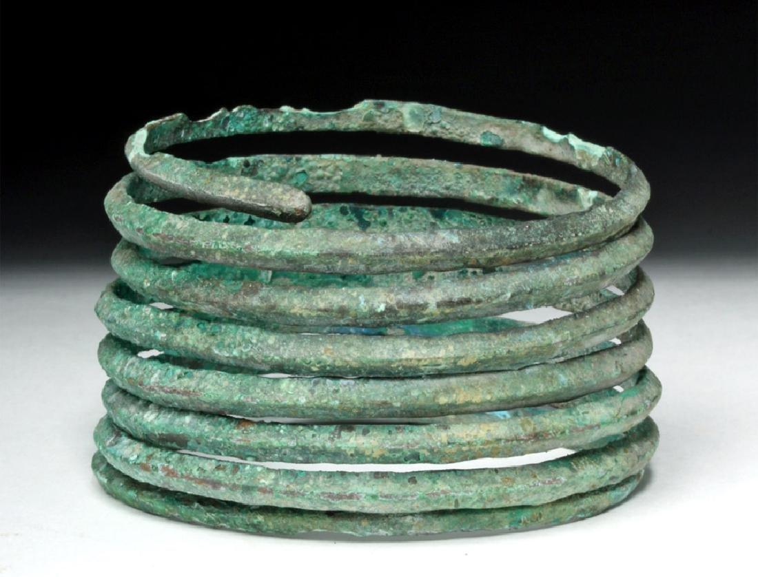 Central Europe Bronze Spiral Bracelet