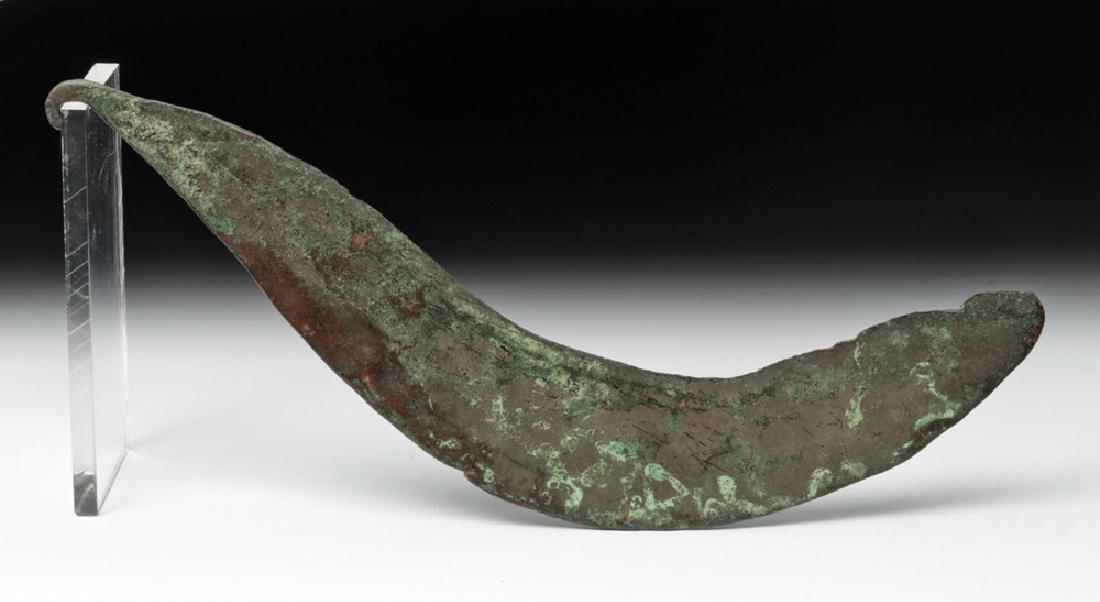 Thracian Bronze Sickle Blade (Falx)