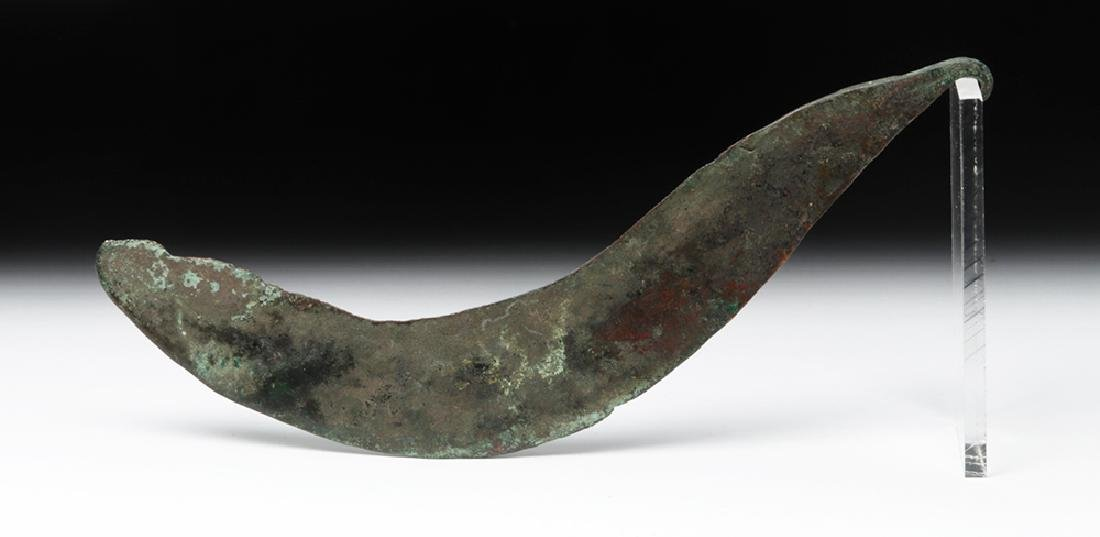 Thracian Bronze Sickle Blade (Falx) - 3