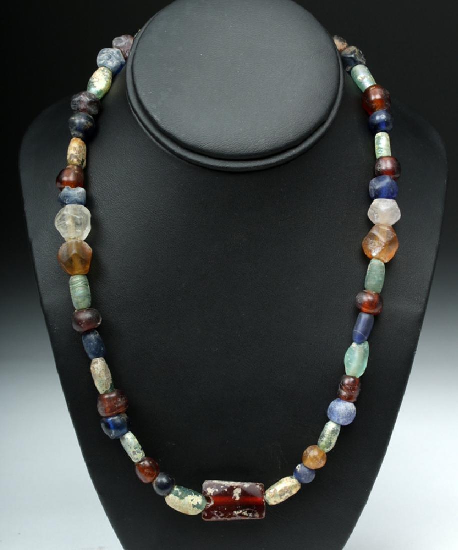 Beautiful & Wearable Viking Glass & Stone Bead Necklace