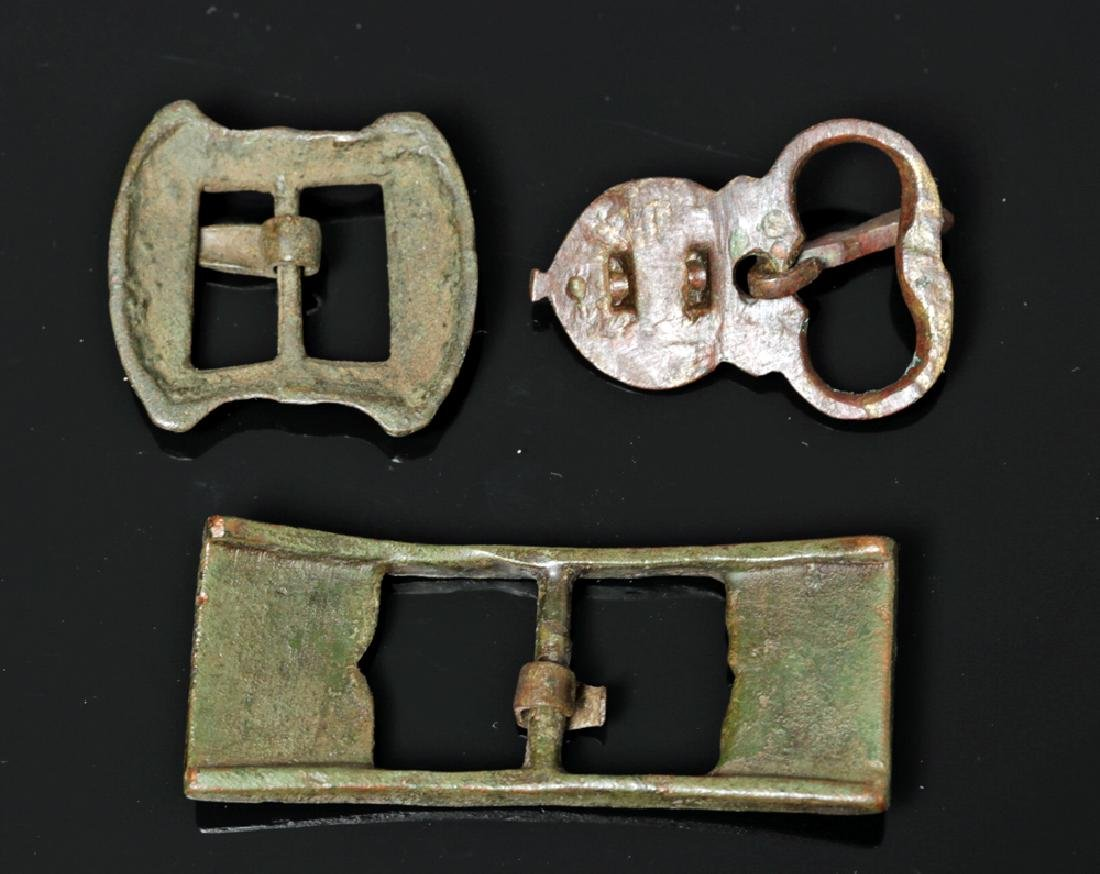 Trio of Fine Viking and / or Medieval Bronze Buckles - 2