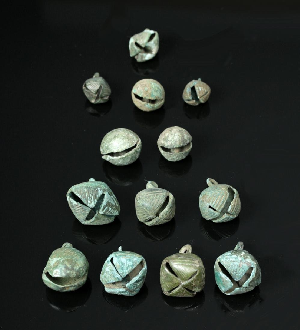 Lot of 13 Viking Bronze Bells