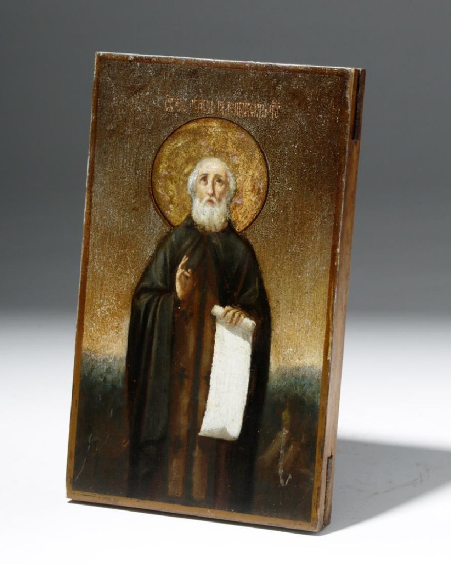 19th C. Russian Icon - Saint Sergius of Radonezh - 3