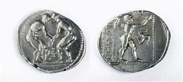 Greek Silver AR Stater Aspendos - 10.7 g