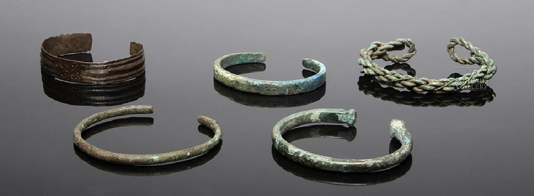 Five Viking Bronze Bracelets