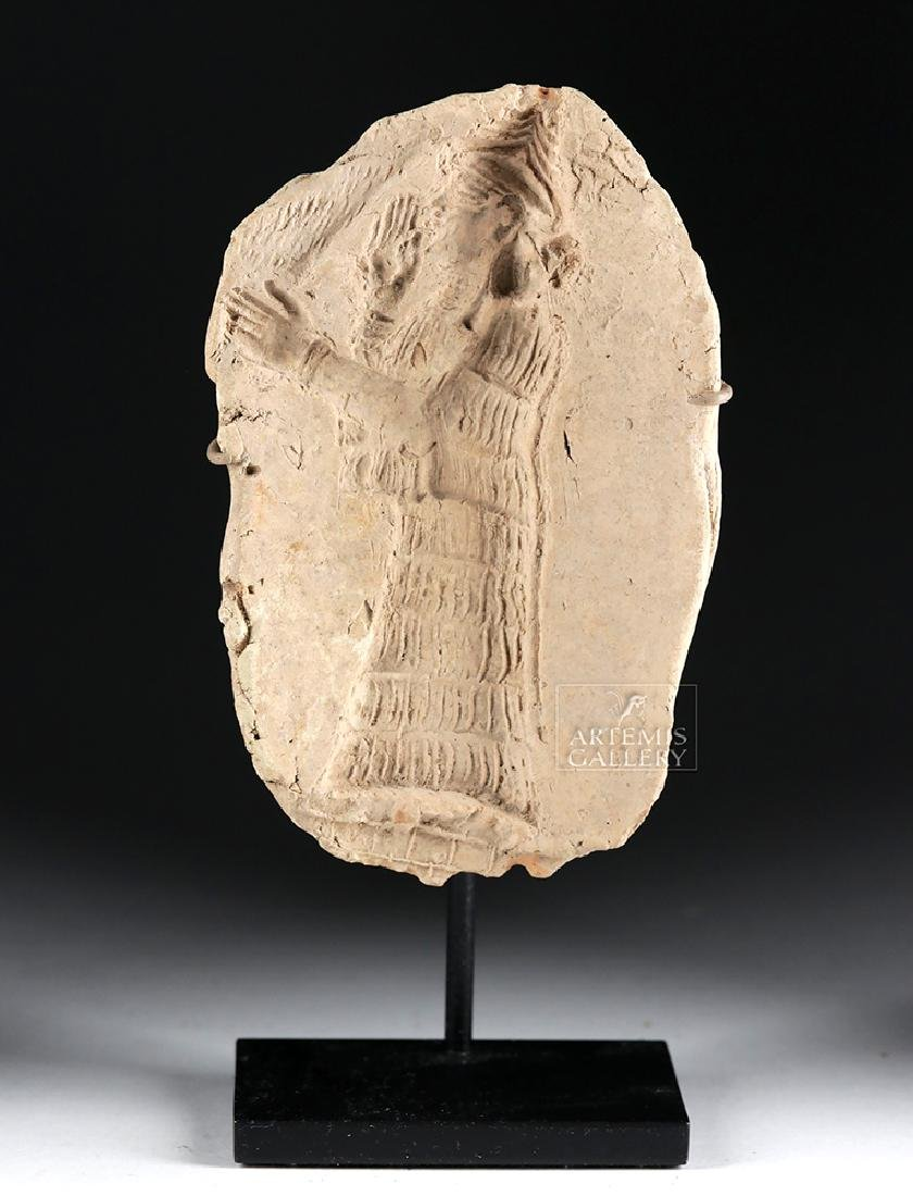 Sumerian Terracotta Mold of a Standing Priest