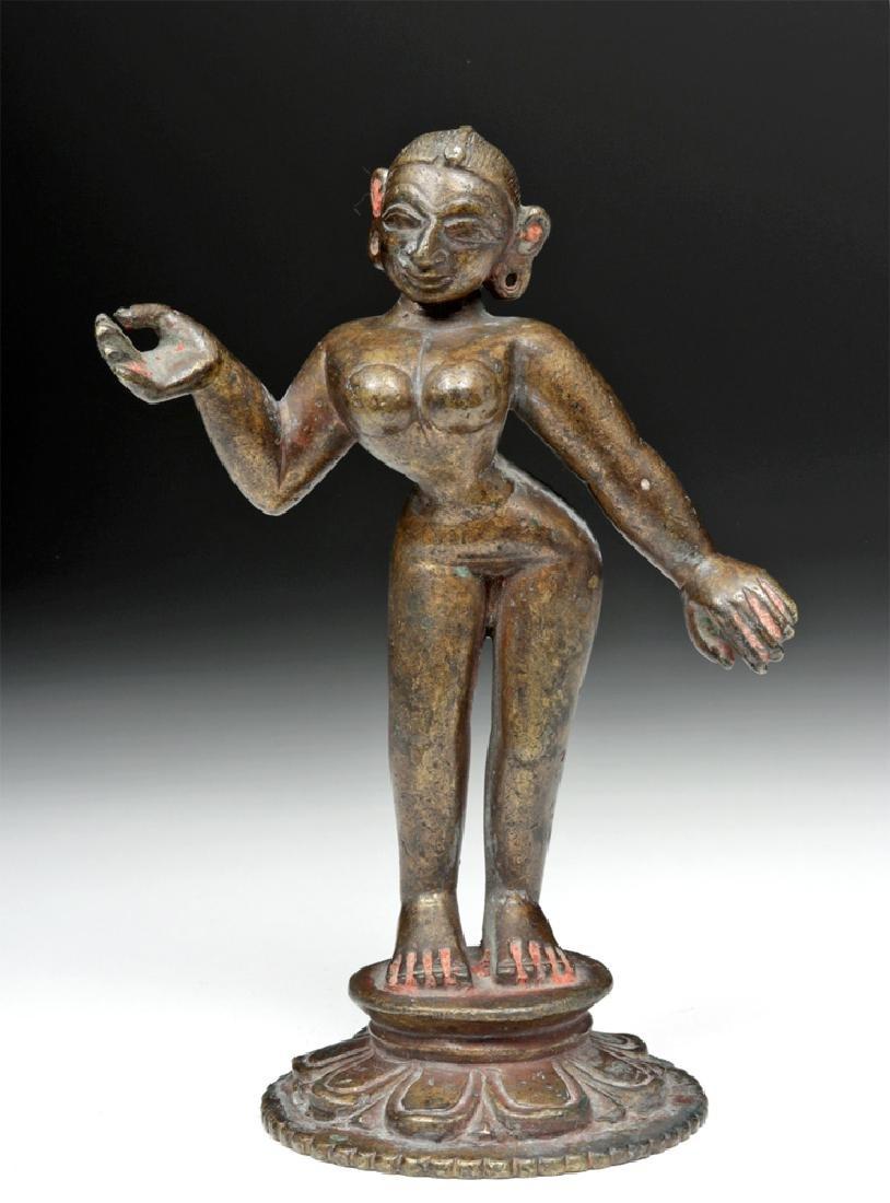 Stunning 18th C. Indian Bronze Radha Figure