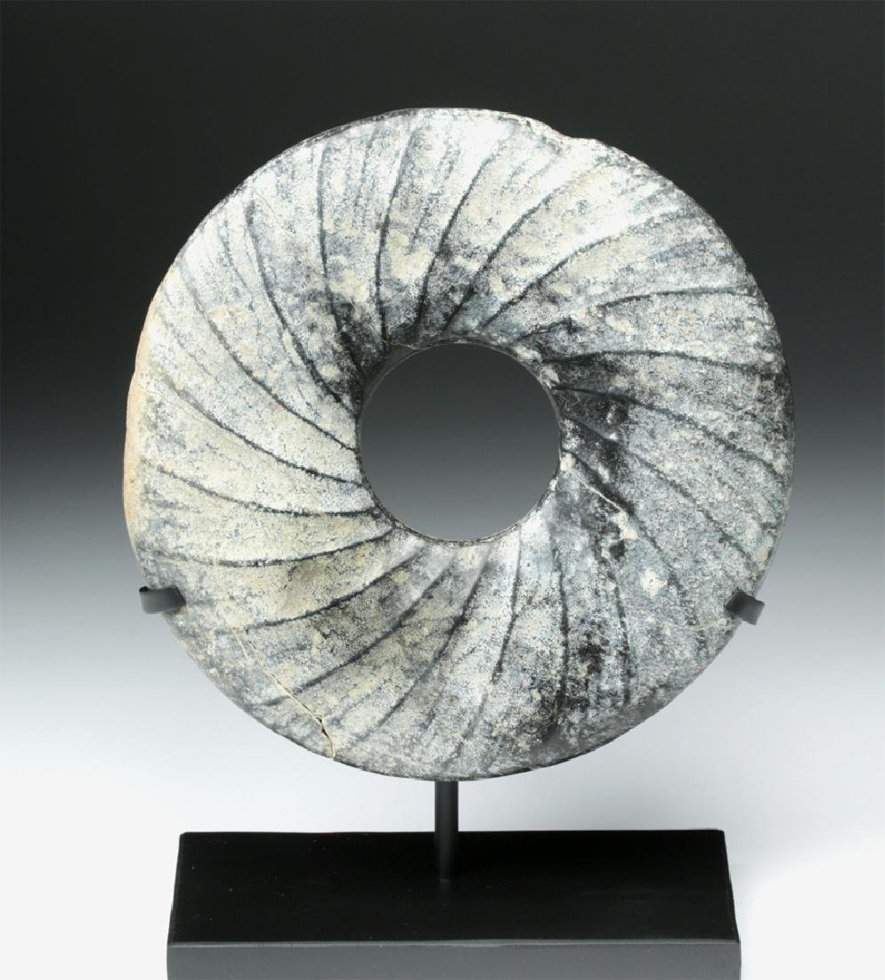 Chinese Neolithic Stone Bi Disc