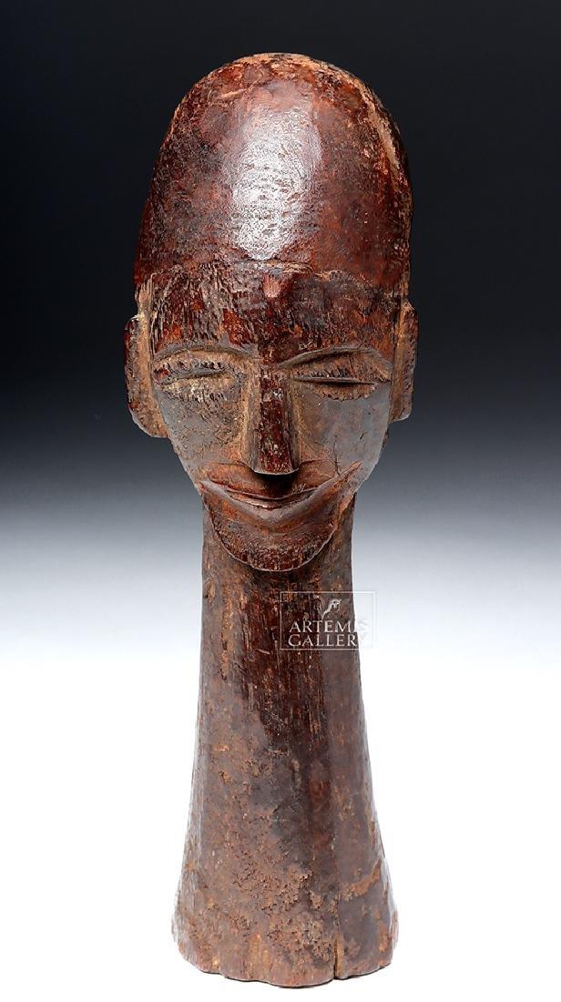 20th C. West African Lobi Wood Head