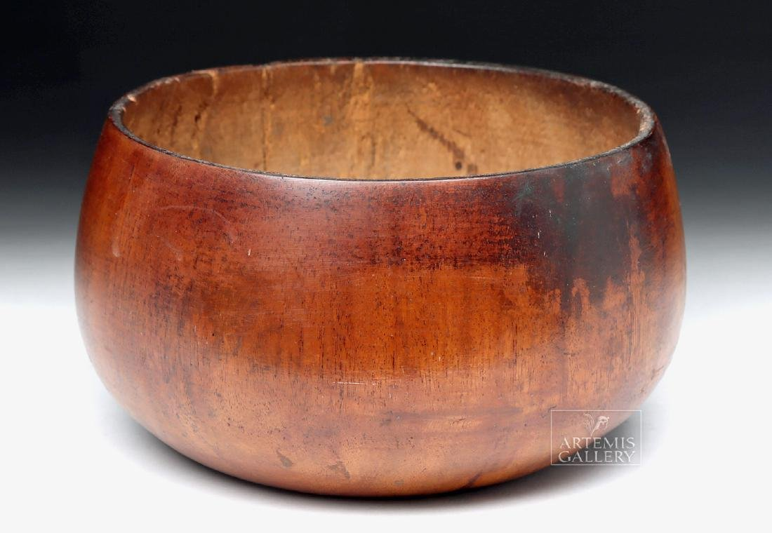 Early 19th C. Hawaiian Koa Wood Poi Bowl