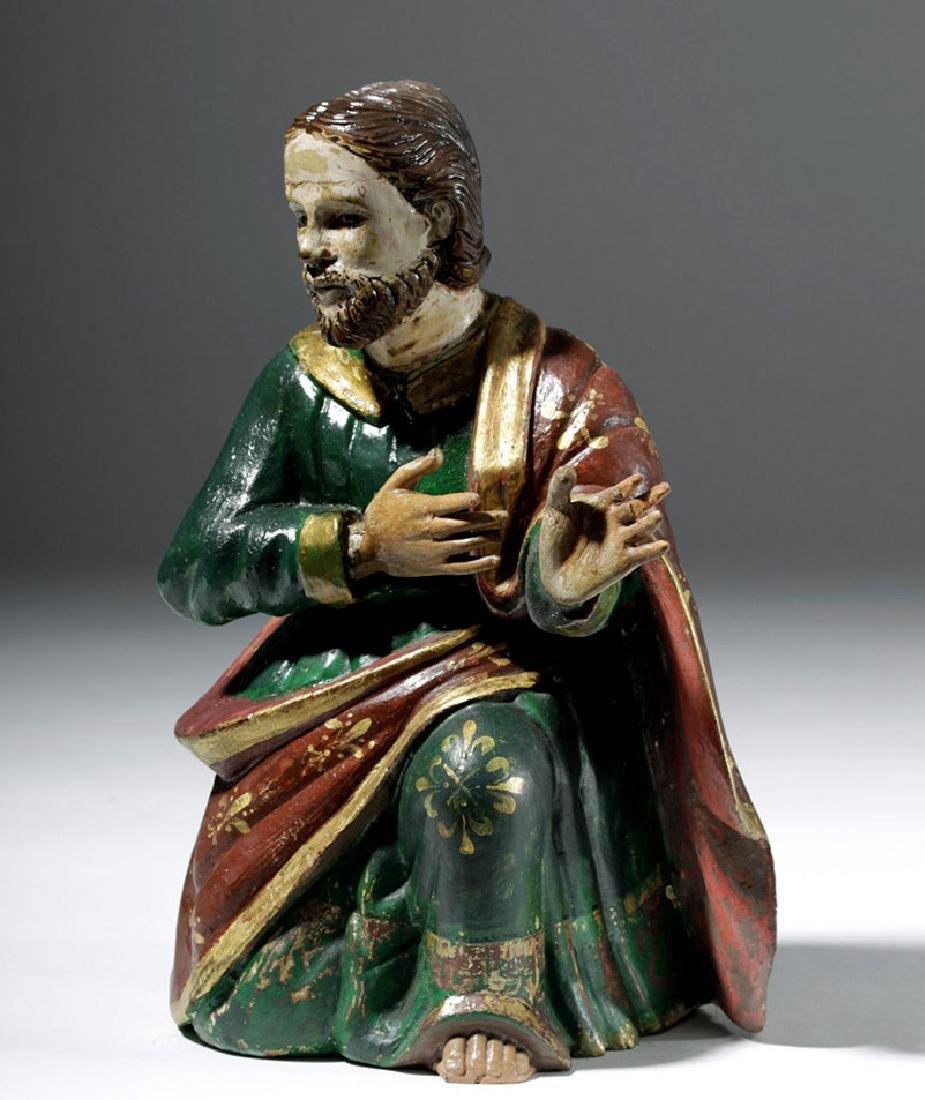 19th C. Mexican Wood Santo of Saint Joseph