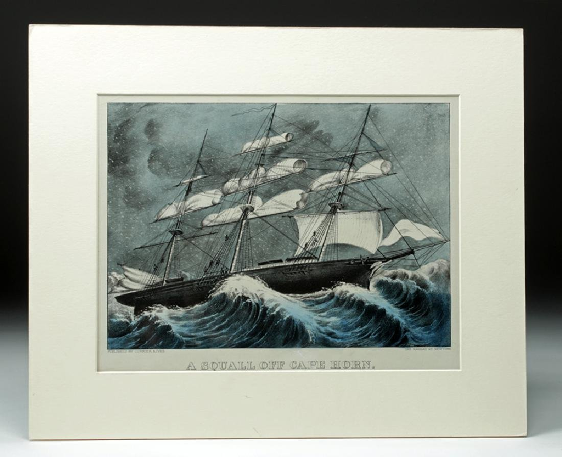 "Currier & Ives, ""A Squall Off Cape Horn"", 1872-74"