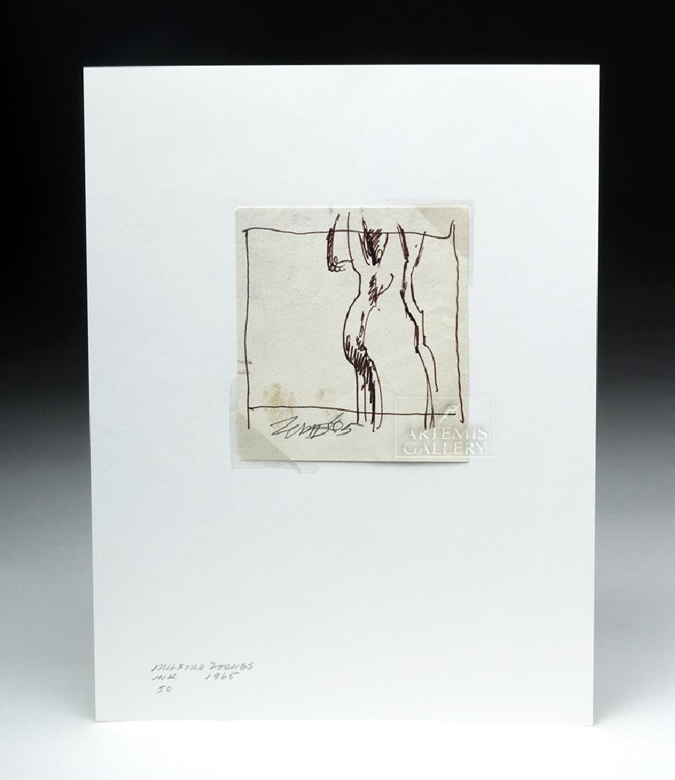 "Milford Zornes Ink Drawing - ""Side View""  - 1965"