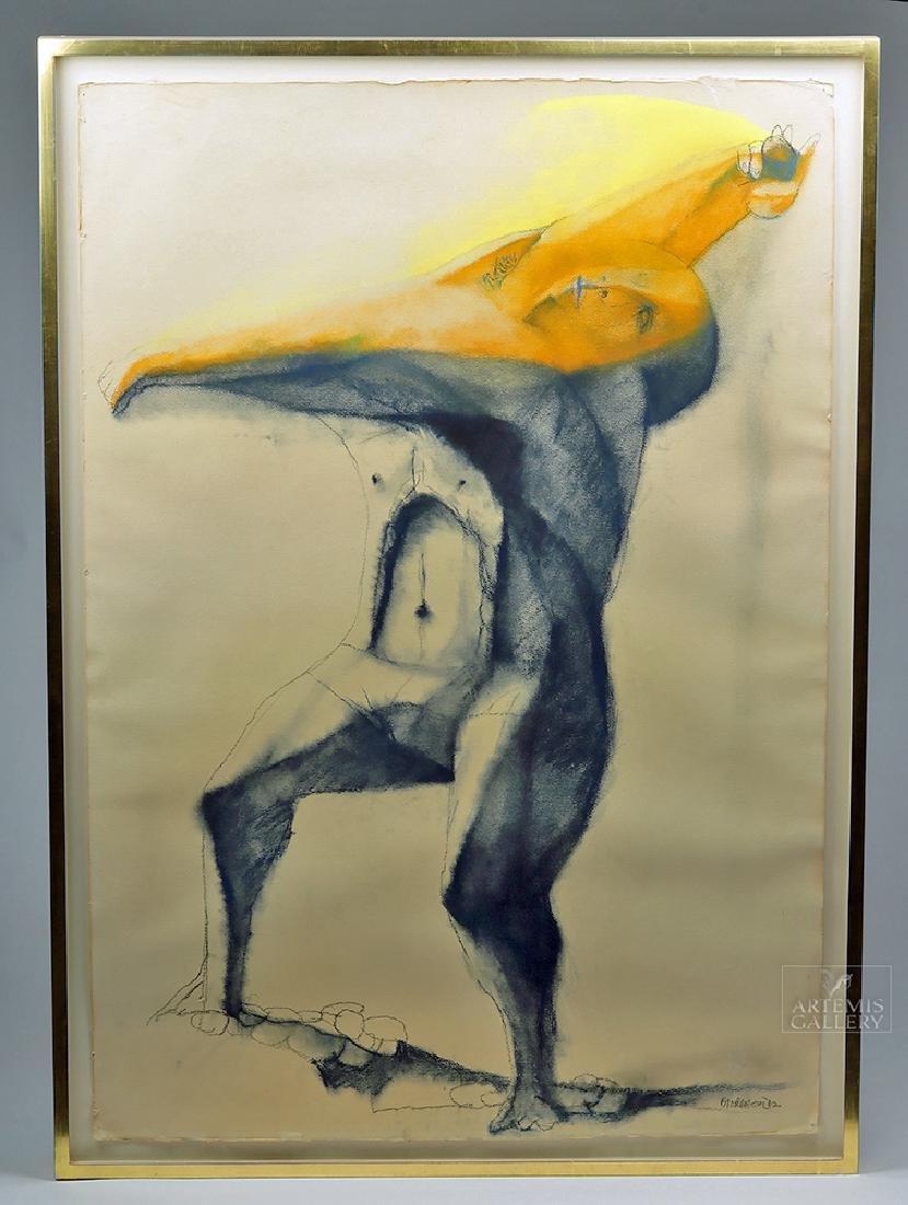 M. Broderson Untitled Figural (David) Pastel - 1962