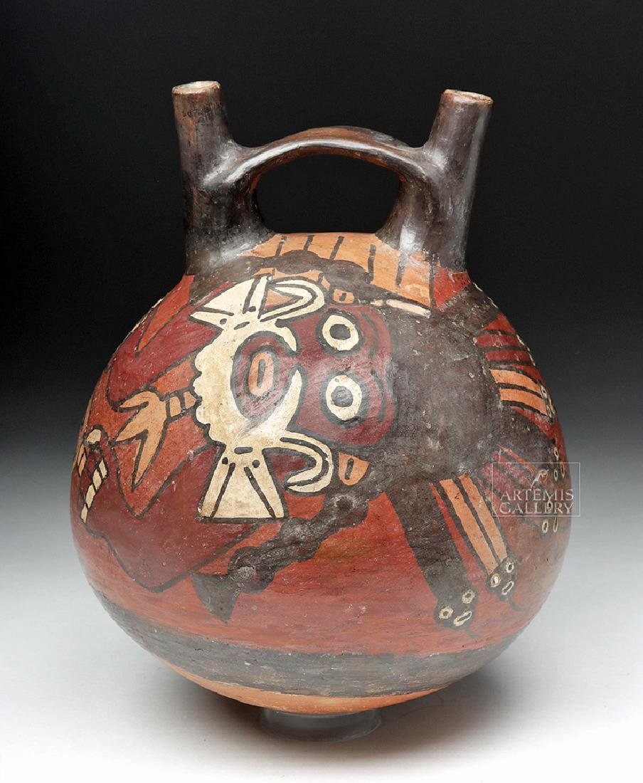 Nazca Polychrome Vessel, Anthropomorphic Mythical Being