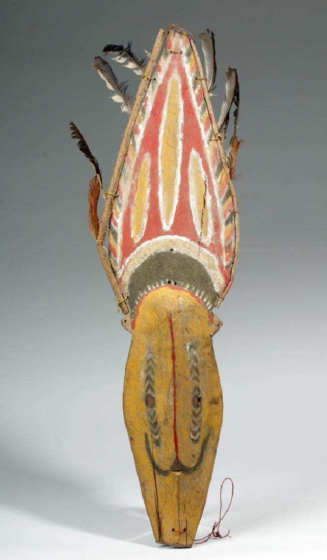 Early 20th C. Papua New Guinea Wood Yam Mask