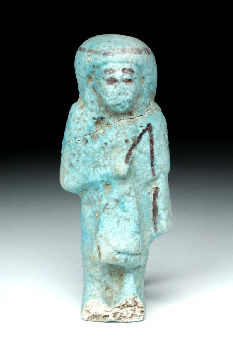 Egyptian Faience Overseer Ushabti w/ Whip