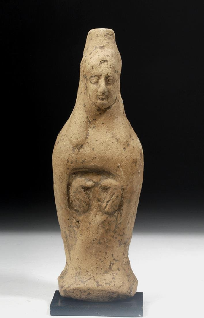 Archaic Greek Terracotta Votive Figure of Goddess