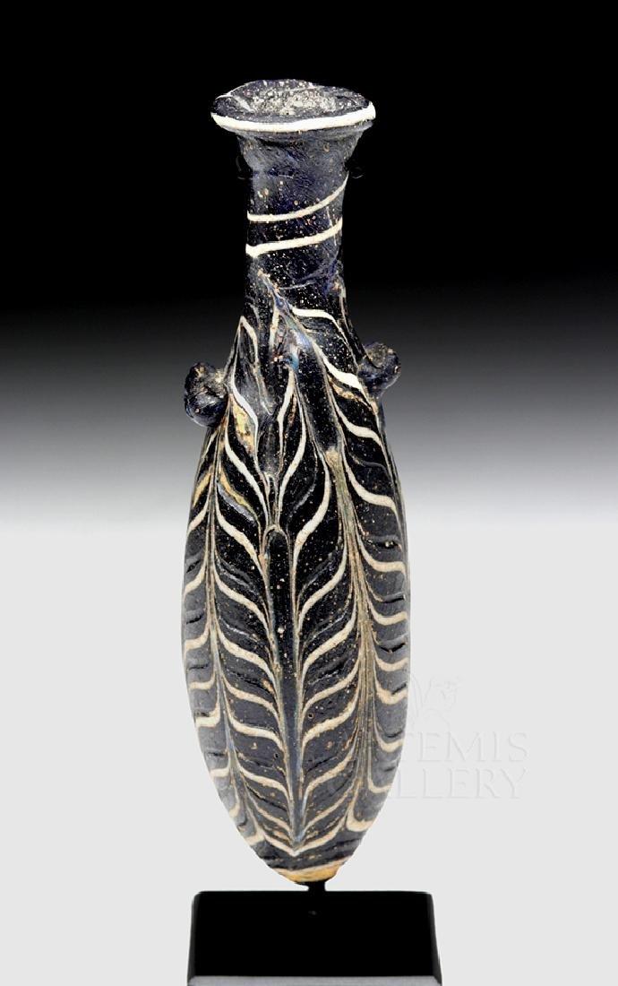 Hellenistic Greek Core-Formed Glass Alabastron