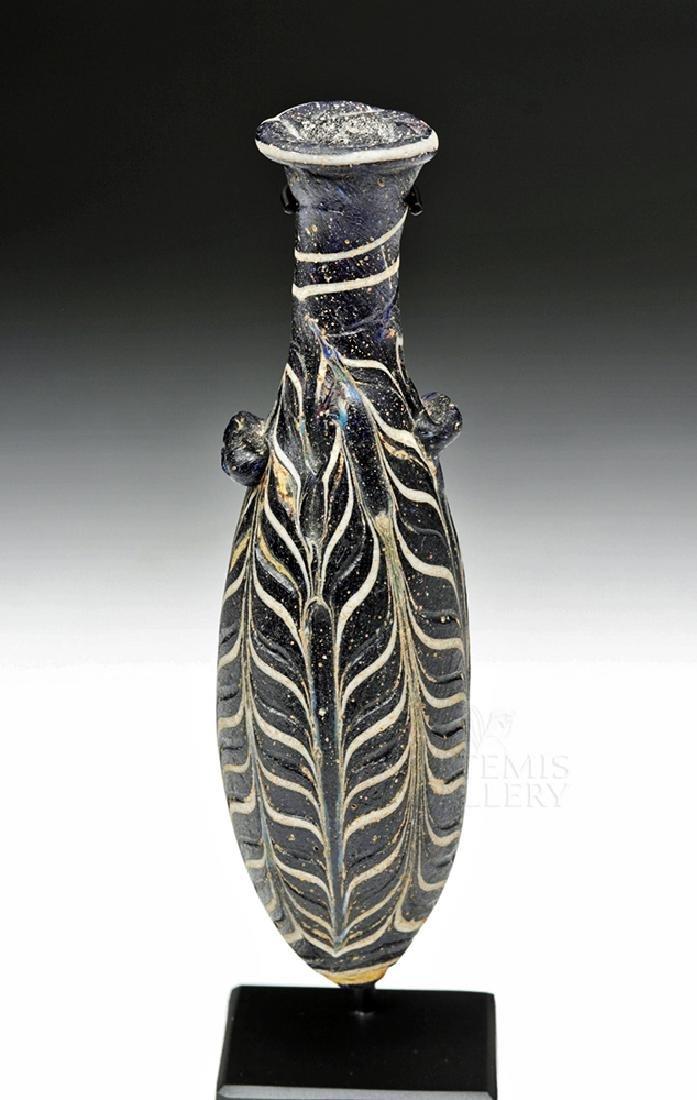 Hellenistic Greek Core-Formed Glass Alabastron - 2