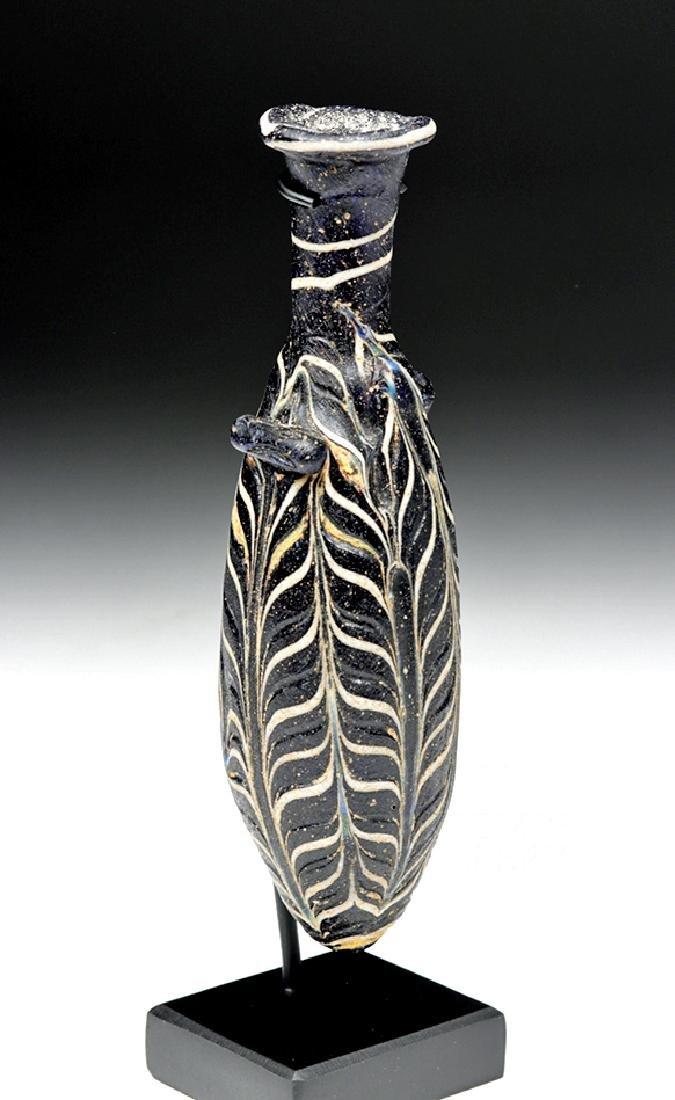 Hellenistic Greek Core-Formed Glass Alabastron - 3