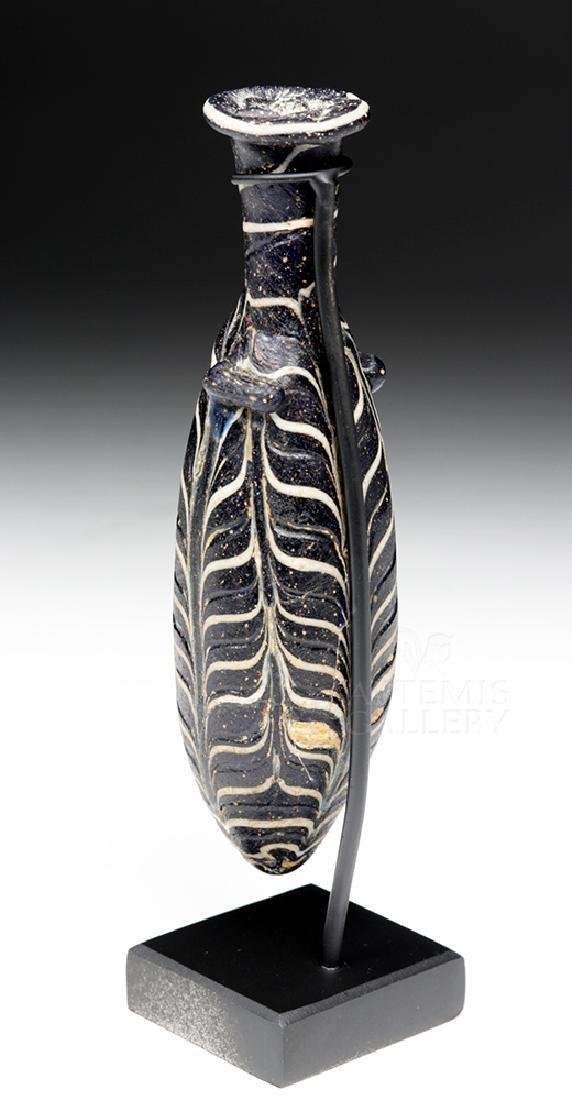 Hellenistic Greek Core-Formed Glass Alabastron - 5