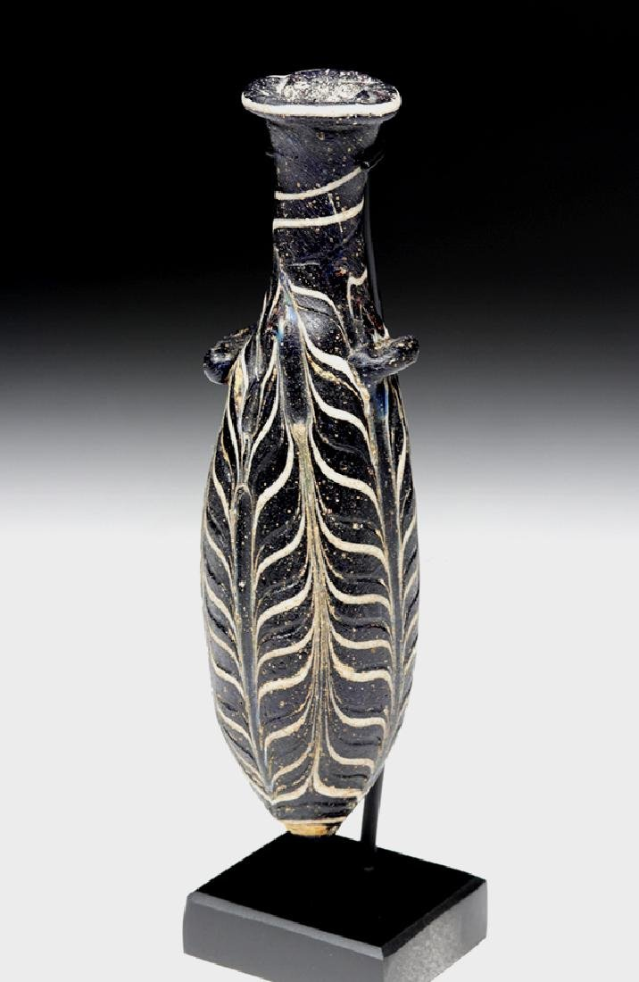 Hellenistic Greek Core-Formed Glass Alabastron - 6