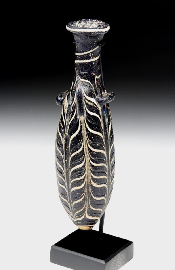 Hellenistic Greek Core-Formed Glass Alabastron - 6